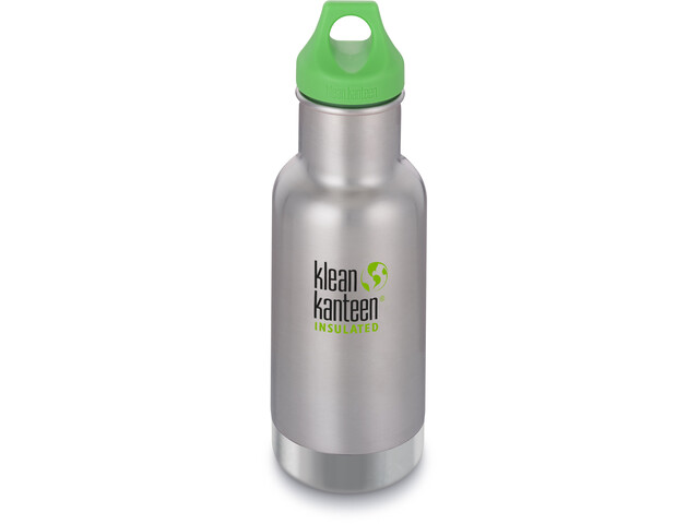 Klean Kanteen Kid Classic Vacuum Insulated Flasche Loop Cap 355ml Kinder brushed stainless